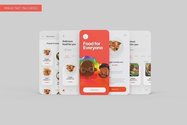 Meerdere app ui mockup-vooraanzichten