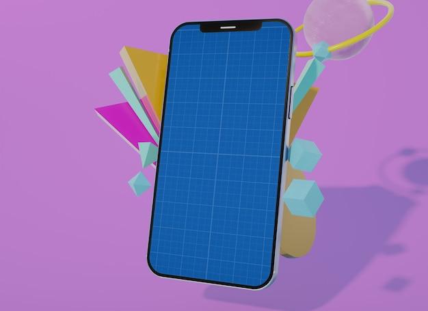 Meerdere creatieve modellen van mobiel telefoonscherm