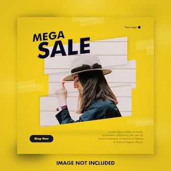 Mega post vendita per social media