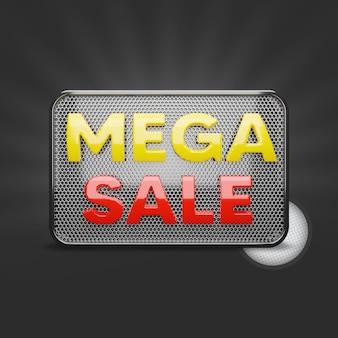 Mega sale 3d-weergave