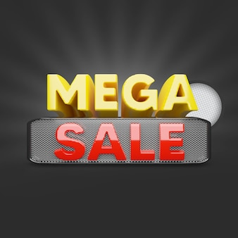 Mega sale aanbieding 3d