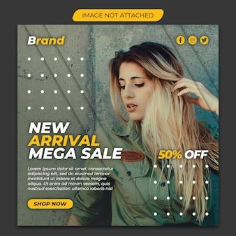 Mega sale instagram sociale mediasjabloon premium psd