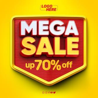 Mega sale-model met tot wel 70 korting