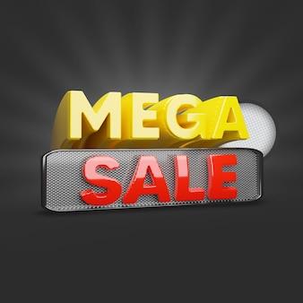 Mega sale tag 3d