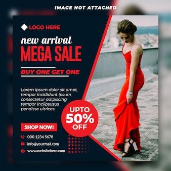 Mega vendita social banner premium psd