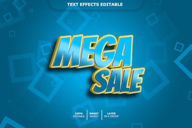 Mega venta efecto de estilo de texto 3d