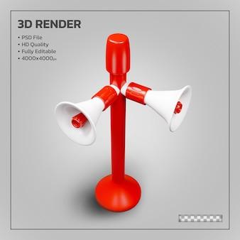 Megafoon toren realistische geïsoleerde 3d render