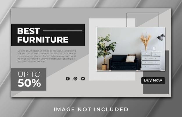 La mejor plantilla de página de inicio de banner de muebles