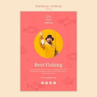 La mejor plantilla de póster de actividad pesquera