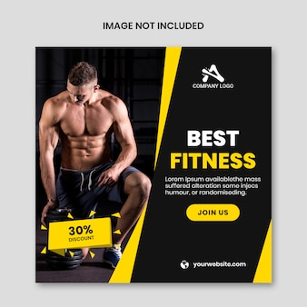La mejor plantilla de redes sociales de fitness y gimnasio