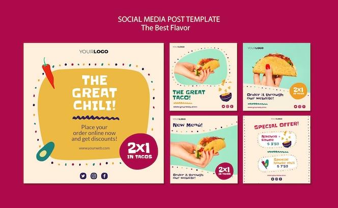 la mejor publicación de redes sociales de sabor