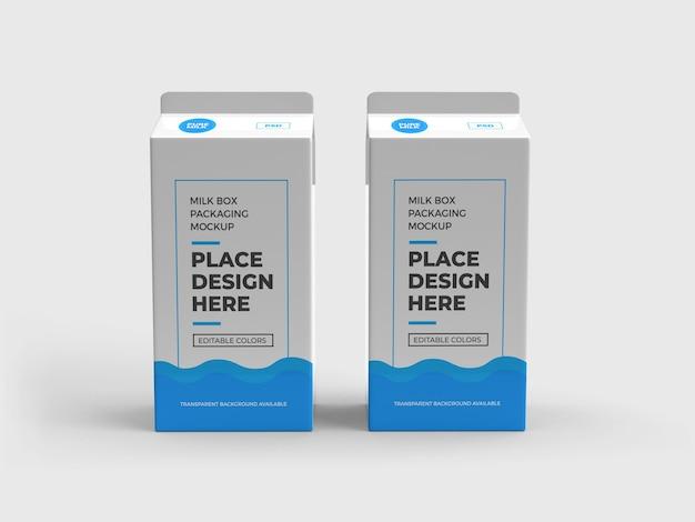 Melk doos en drank verpakking mockup ontwerp geïsoleerd