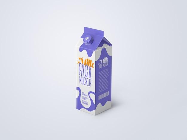 Melk kartonnen doos mockup