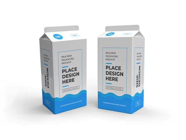Melkbox en drankverpakkingsmodel