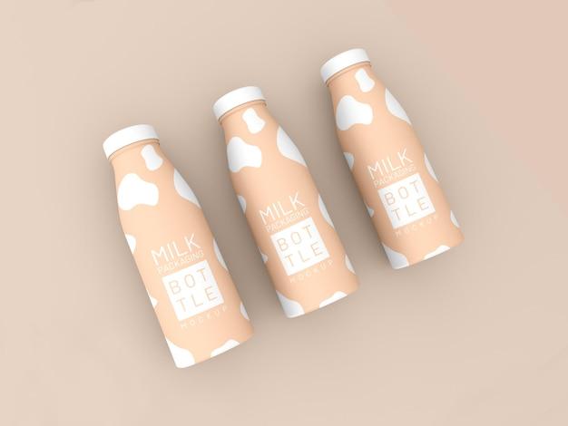 Melkfles verpakking mockup