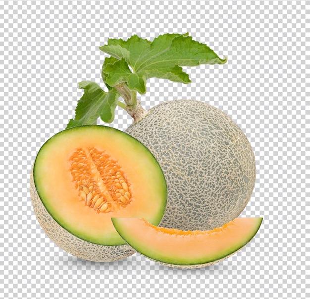 Meloen met afzonderlijke geïsoleerde bladeren