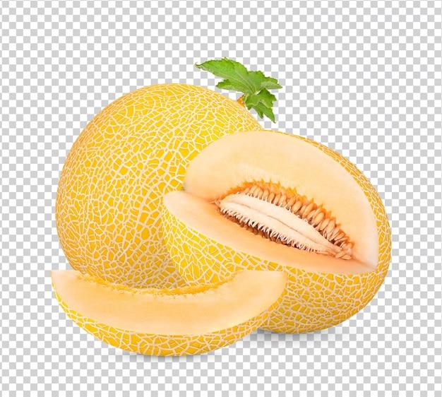 Meloen met geïsoleerde bladeren