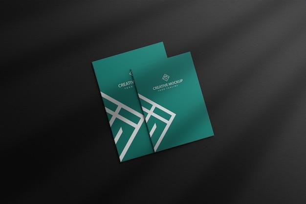 Membrete con maqueta de tarjeta de visita premium psd