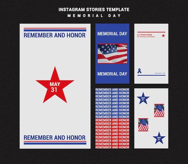Memorial day instagram-verhalen