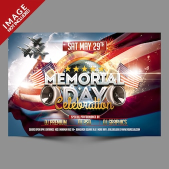 Memorial day viering flyer
