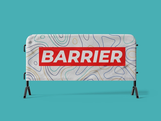 Menigte barrière cover mockup sjabloon