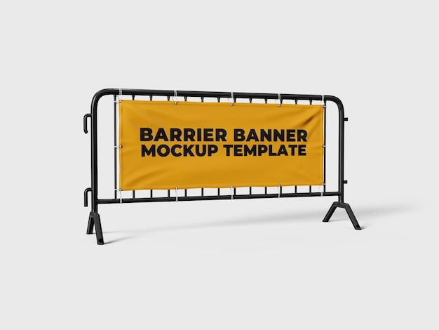 Menigte barrière mockup sjabloon