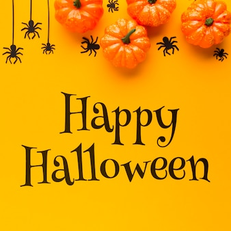 Mensaje feliz halloween el día de celebración