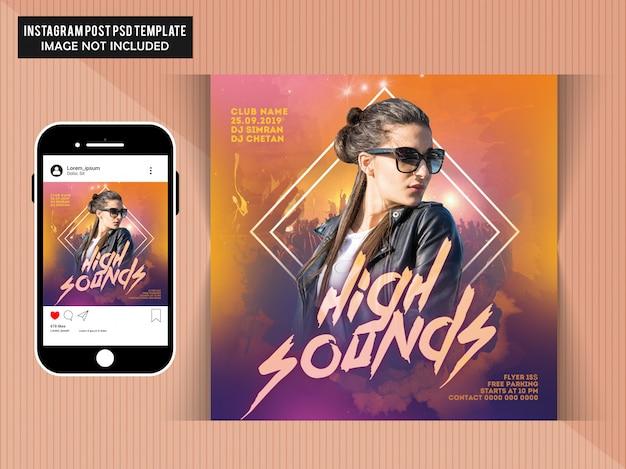 Mensaje de instagram de high sounds