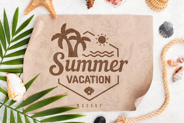 Mensaje de verano de maqueta