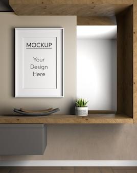 Mensola in legno di design d'interni
