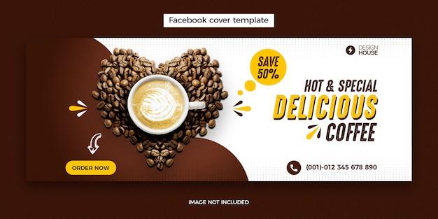 Menú de comida y plantilla de publicación de portada de restaurante en facebook