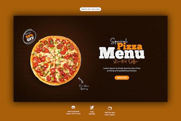 Menu di vendita di cibo per modello di banner web