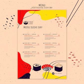 Menú del día internacional del sushi
