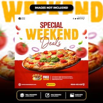 Menú especial redes sociales comida redes sociales banner post diseño plantilla instagram