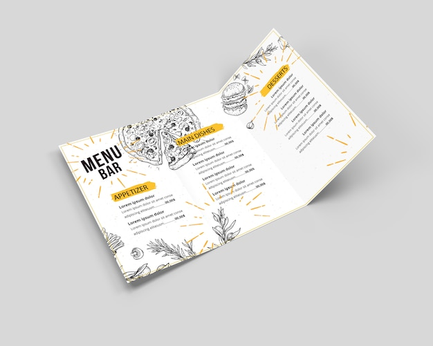Menu mock up
