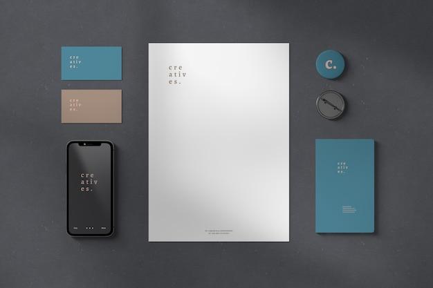 Merk- en briefpapiermodel