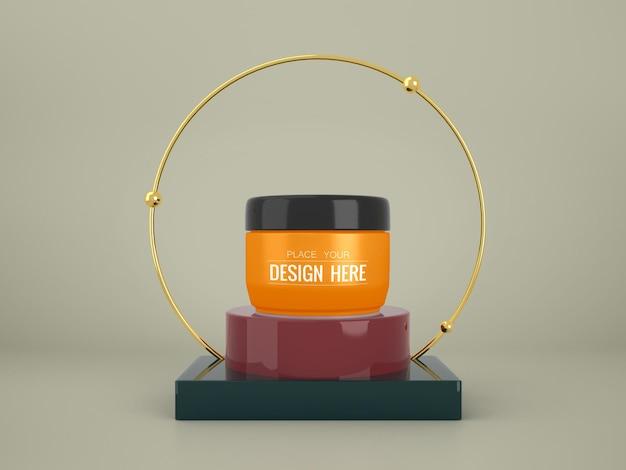 Merk mockup voor cosmetica. pakket voor branding en identiteit. klaar voor uw ontwerp