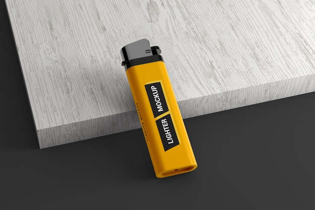 Merkmodel plastic aansteker mockup