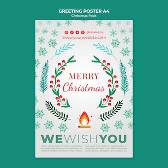 Merry christmas greeting voor vakantie