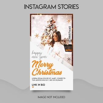 Merry christmas instagram-verhalen sjabloon