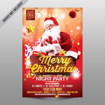 Merry christmas night party