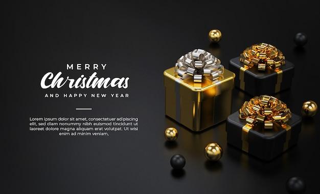 Merry christmas-sjabloon voor spandoek