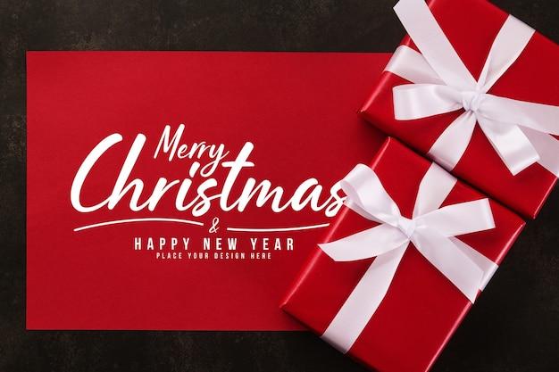 Merry christmas wenskaart mockup