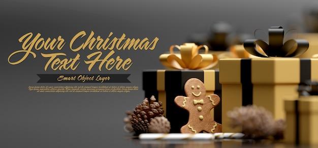 Merry christmas wenskaartsjabloon