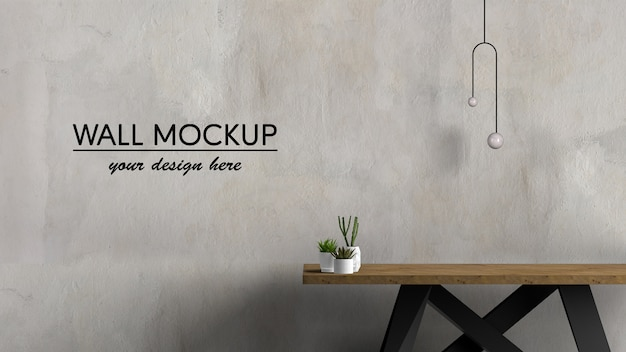 Mesa de madera de diseño interior