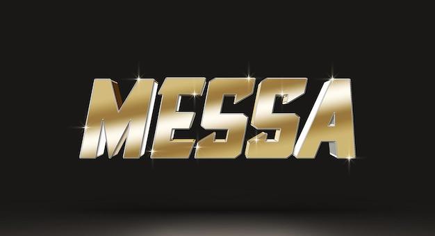 Messa 3d-sjabloon voor tekststijleffect