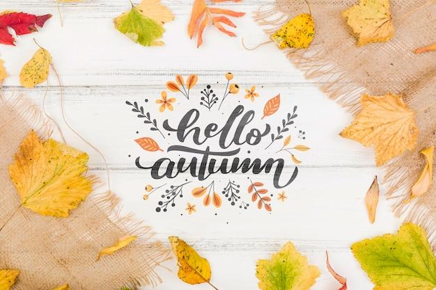 Messaggio di benvenuto della stagione autunnale