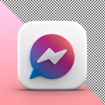 Messenger 3d app pictogram geïsoleerd ontwerp