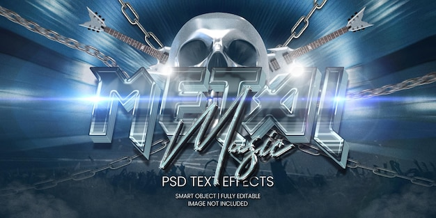 Metaalmuziek tekst effect
