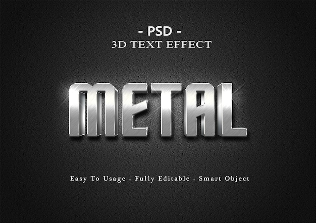 Metalen 3d teksteffect